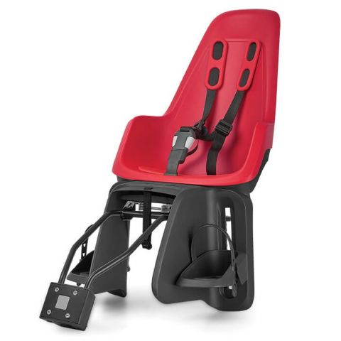 Fotelik rowerowy dla dzieci Bobike ONE na tył roweru czerwony