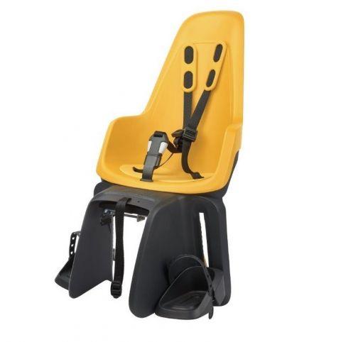 fotelik rowerowy dziecięcy na bagażnik Bobike ONE MAxi mustard