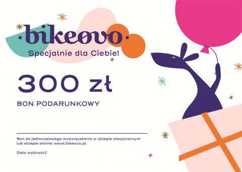 Bon podarunkowy o wartości 300 zł na zakupy w Bikeovo.pl