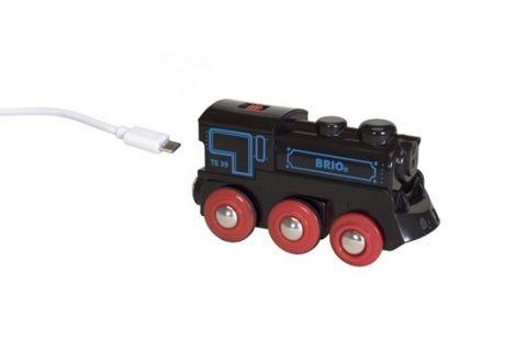 Czerna lokomotywa Brio WORLD USB