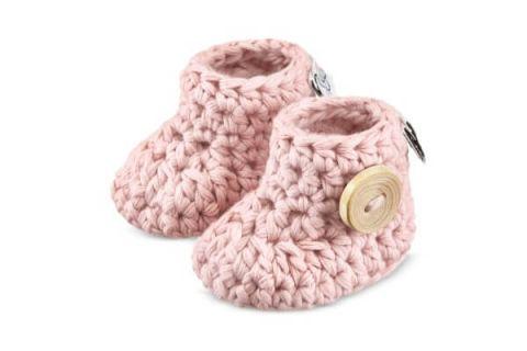 MAYLILY Buciki dziane niemowlęce 3-6 msc różowe