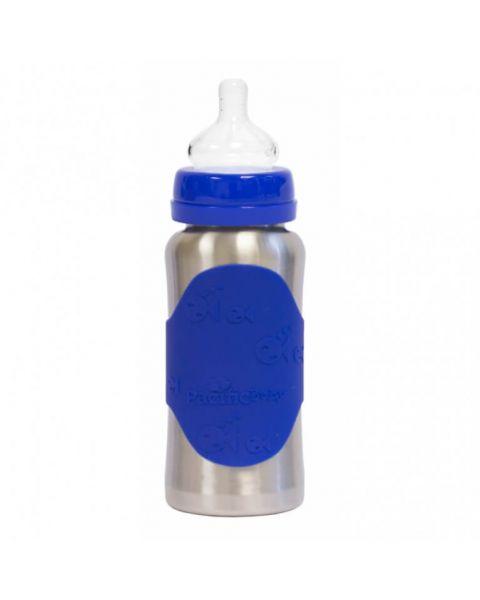 Butelka ze smoczkiem Pacific Baby GroGrow 300 ml silver blue