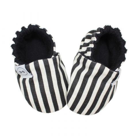 Baby Bisous Buciki B&W Slim Stripes 18