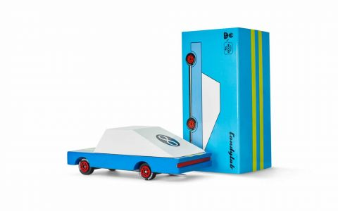 Candycar autko drewniane Blue Racer