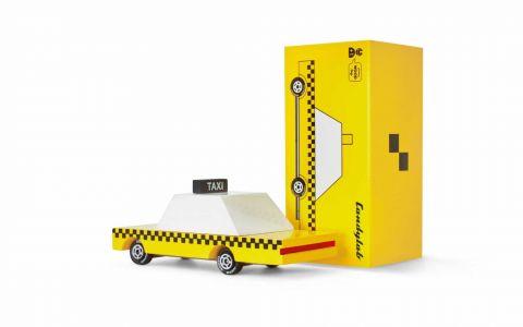 Candycar autko drewniane Yellow Taxi