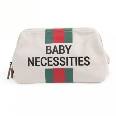 Childhome Kosmetyczka Baby Necessities Paski Zielono-Czerwone