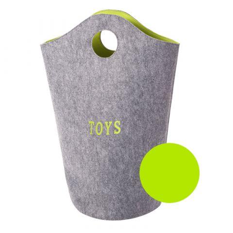 Childhome torba na zabawki szary limonka 31 x 32 x 72 cm
