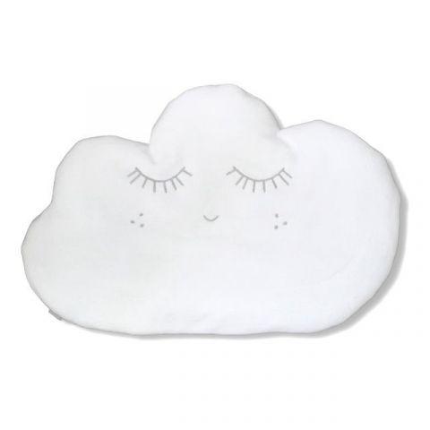 Pink No More poduszka w kształcie chmurki biała