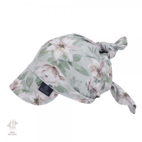 Chustka z daszkiem dla dzieci wiązana Makaszka VINTAGE FLOWER