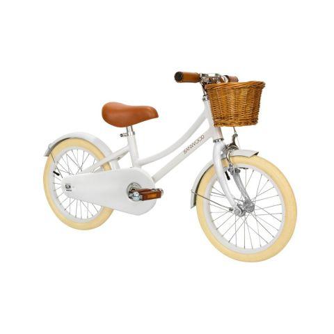 Banwood rowerek z koszyczkiem Classic White