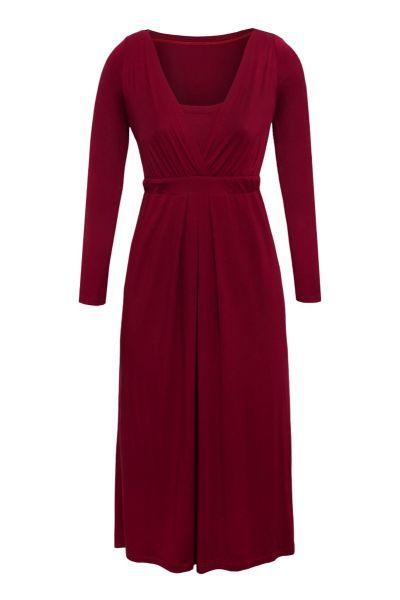Cool Mama Sukienka Elegant burgund długi rękaw S