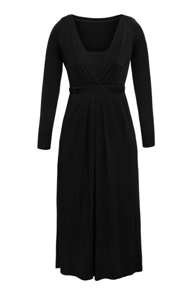 Cool Mama Sukienka Elegant czarna dł. rękaw M