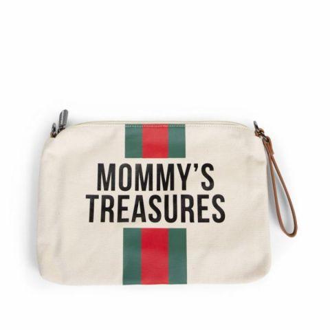 Childhome Torebka Mommy's Treasures Paski Zielone