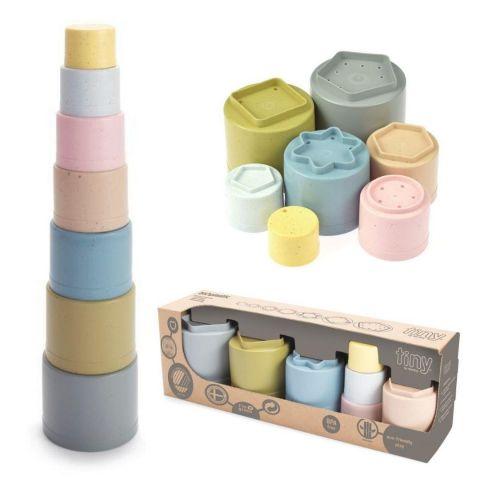 zabawka ekologiczna wieża z kubków