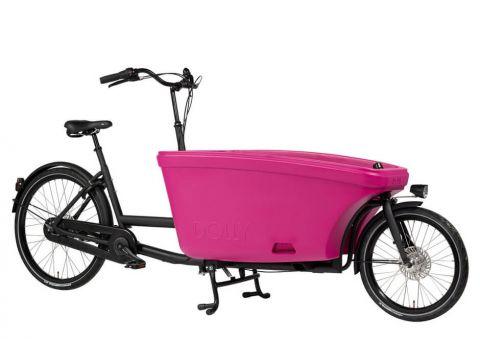 Dolly rower cargo bez napędu czarny/fuksja