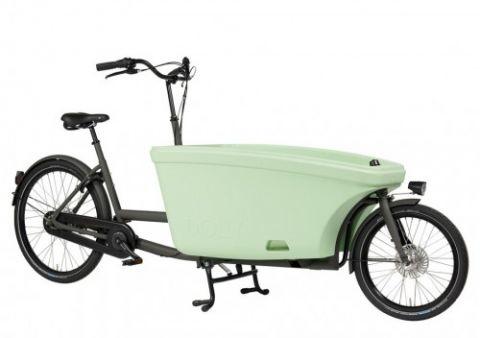 Dolly rower cargo bez napędu szarypastel zieleń