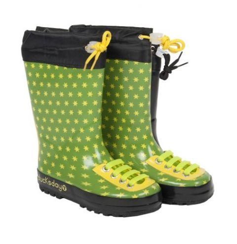 DUCKSDAY buty przeciwdeszczowe FUNKY GREEN 23