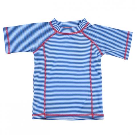 DUCKSDAY koszulka UV50 chłopięca BLUE STRIPE 2-3Y