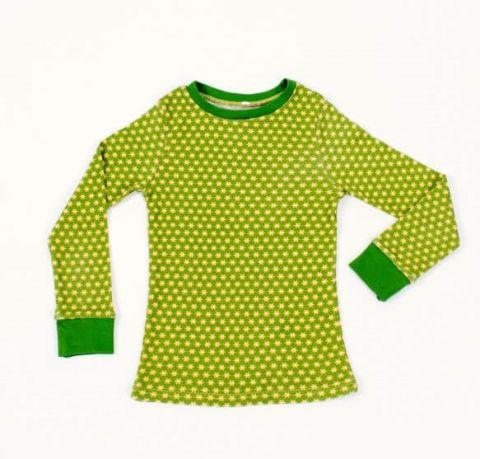 DUCKSDAY piżama bluzka funky green 2Y