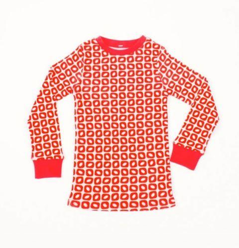 DUCKSDAY piżama bluzka funky red 4Y