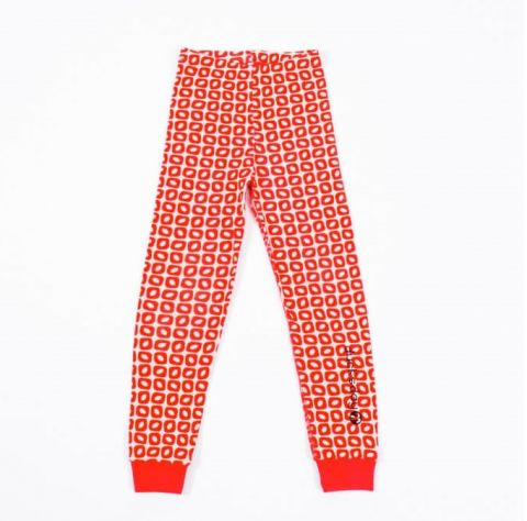 DUCKSDAY piżama spodnie funky red 2Y