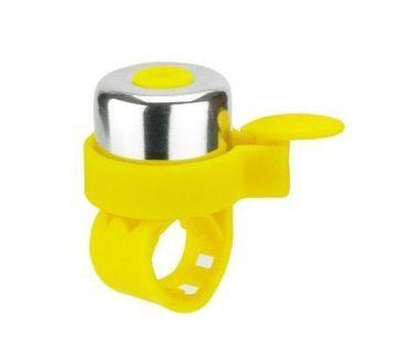 Micro dzwonek neonowy żółty