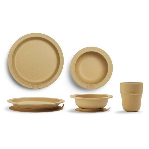 Elodie Details Zestaw obiadowy dla dziecka do nauki samodzielnego jedzenia Gold