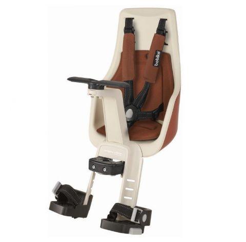 Fotelik rowerowy Bobike exclusive MINI PLUS na kierownicę cinnamon br