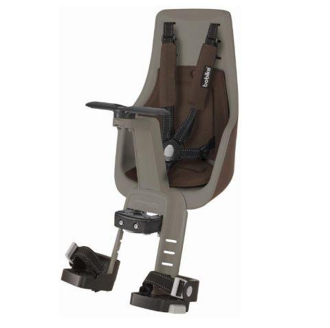 Fotelik rowerowy Bobike exclusive MINI PLUS na kierownicę toffee brown
