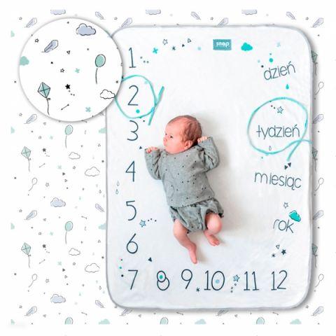 fotokocyk do zdjęć dla niemowlaka insta-kocyk