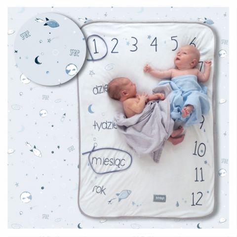 Instakocyk powder blue niebieski dla niemowlaka