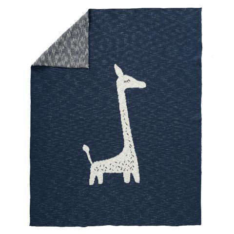 Fresk Tkany kocyk z bawełny organicznej 100 x 150 Żyrafa