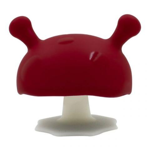 Mombella Gryzak uspokajający dla niemowląt Mushroom czerwony