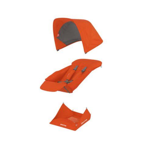 Zestaw wymiennych materiałów do wózka Greentom Reversible pomarańczowe
