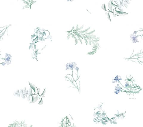 Kokon Lullalove zielnik niebieski - wzór