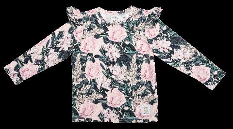 Popinjay Bluzka z falbankami Floral Grey 116/122