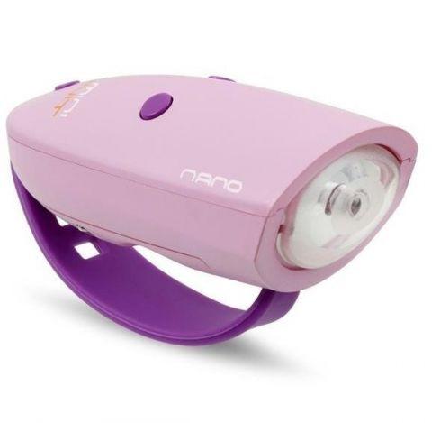 Różowa lampka rowerowa Hornit