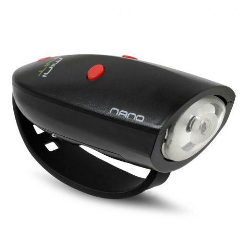 Lampka rowerowa z sygnałami Hornit nano czarno czerwona