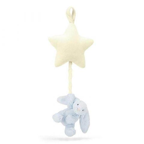 Jellycat Króliczek z gwiazdką pozytywką niebieski