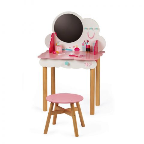 Mebelek dla dziewczynki toaletka z akcesoriami firmy Janod
