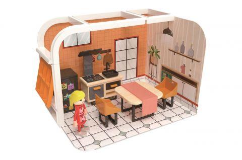 Joueco Domek dla lalek figurki i mebelki KUCHNIA
