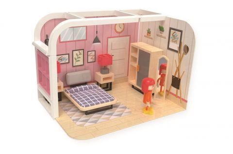 Joueco Domek dla lalek zabawki i figurki SYPIALNIA