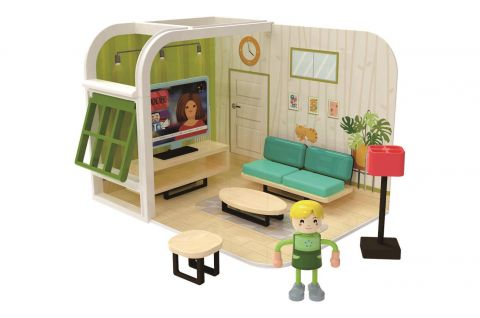 Joueco Domek dla lalek zestaw zabawek SALON