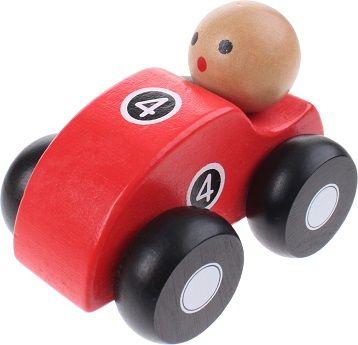 Joueco Drewniane autko czerwone