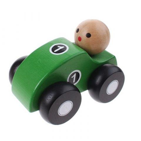 Joueco Drewniane autko zielone