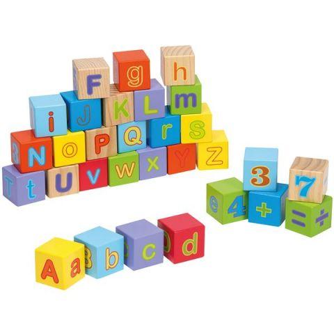 Joueco Drewniane klocki z alfabetem 30 szt.