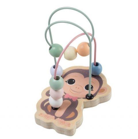 Joueco Drewniany labirynt przeplatanka małpka