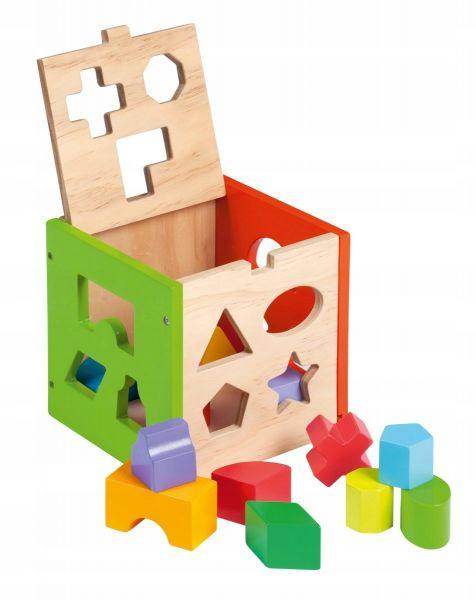 Joueco Drewniany sorter kształtów z klockami