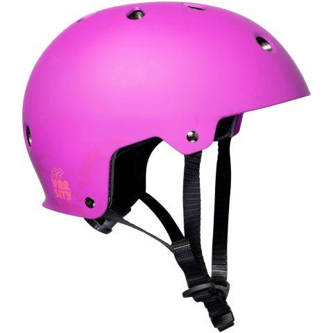 fioletowy kask na rolki K2 Varsity PRO
