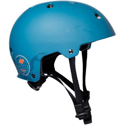 niebieski kask dla dzieci na rolki K2 Varsity